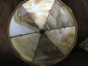 SKU16 Slag glass lamp 6 panel