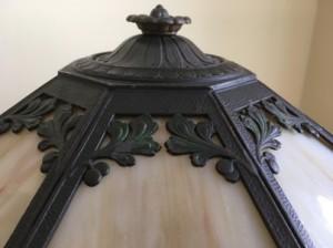 SKU17  1920's Genuine Antique Slag Glass Lamp