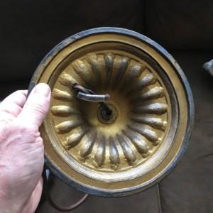 SKU18 1920's Bamboo base slag glass Lamp