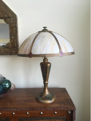 SKU20 1920's Rainaud Co. Slag Lamp for sale