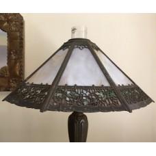SKU22 Circa 1890's GAS slag glass lamp for sale