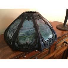 SKU23 Circa 1900's 8 panel slag glass lamp for sale