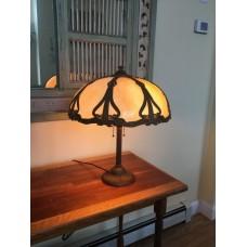 SKU29 Slag glass lamps for sale Art Nouveau slag glass lamp FOR SALE Circa 1920's 8 panels